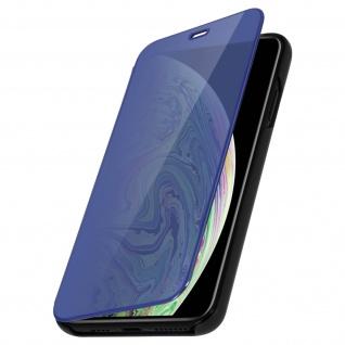 Apple iPhone XS Max Flip Cover mit Spiegeleffekt & Standfunktion - Schwarz