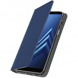 Samsung Galaxy A8 2018 Flip Cover mit Kartenschlitz & Standfunktion - Blau