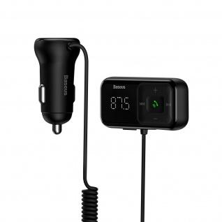 FM Bluetooth Transmitter Zigarettenanzünder Ladegerät, Baseus S-16 - Schwarz