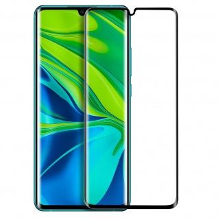 Premium Panzerglas Schutzfolie für Xiaomi Mi Note 10/10 Pro - Rand Schwarz