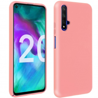 Halbsteife Silikon Handyhülle Honor 20, Huawei Nova 5T, Soft Touch - Rosa
