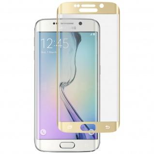 Displayschutzfolie Hartglas abgerundete Ecken für Galaxy S6 Edge - Gold