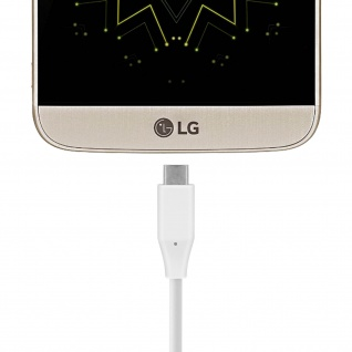 Original LG USB-C/USB-C Ladekabel - Aufladen & Synchronisierung - Weiß - Vorschau 3
