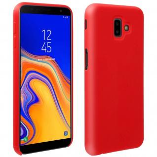 Halbsteife Silikon Handyhülle Galaxy J6 +, Soft Touch - Rot