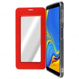 Spiegel Hülle, dünne Klapphülle für Samsung Galaxy A7 2018 - Rot