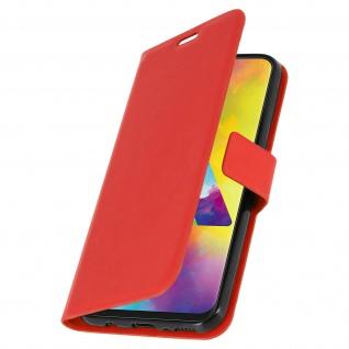 Flip Stand Cover Brieftasche & Standfunktion für Samsung Galaxy M20 - Rot - Vorschau 2