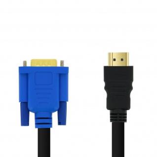 HDMI- / VGA Videoadapter, 1080P, Kabellänge: 1, 8m, by LinQ - Schwarz
