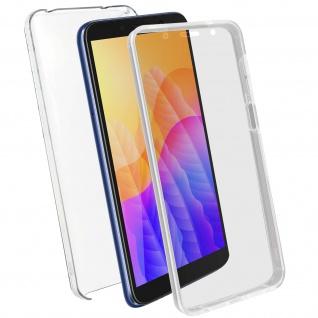 Schutzhülle für Huawei Y5p, Vorder- + Rückseite ? Transparent