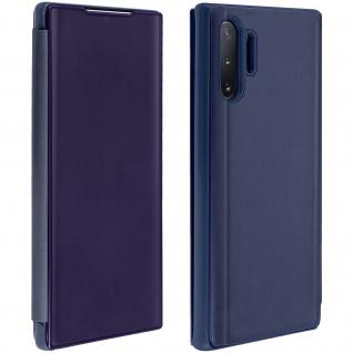 Samsung Galaxy Note 10 Plus Cover mit Spiegeleffekt & Standfunktion - Dunkelblau