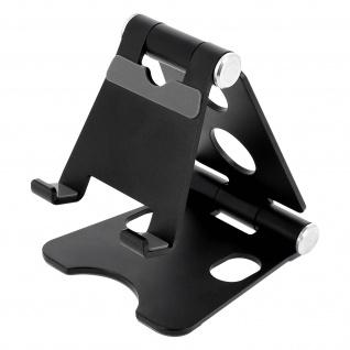 Schreibtischhalterung Smartphone/Tablet 4'' bis 10'' Aluminium Schwenkbar Silber
