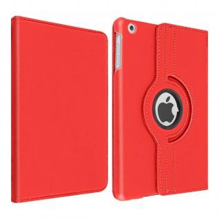 360° Klapphülle, Etui mit Standfunktion für Apple iPad Mini 1 / 2 / 3 â€? Rot