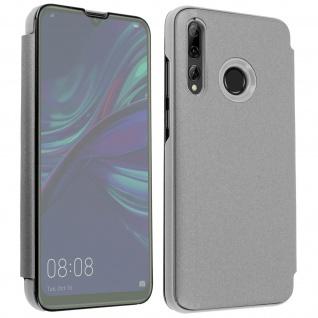 Huawei P Smart plus 2019 Flip Cover mit Spiegeleffekt & Standfunktion ? Silber