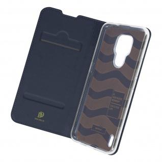 Klappetui mit Kartenfach & Standfunktion Motorola Moto E7 ? Dunkelblau