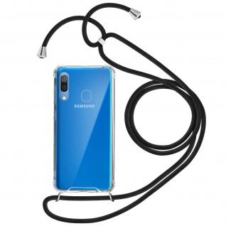 Handykette Handyhülle mit Halsband für Samsung Galaxy A30 - Schwarz