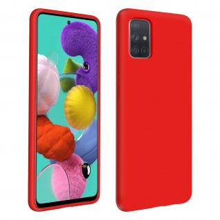 Halbsteife Silikon Handyhülle Samsung Galaxy A51, Soft Touch - Rot