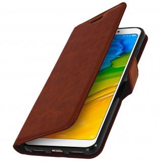 Flip Cover Stand Case Brieftasche & Standfunktion für Xiaomi Redmi 5 - Braun