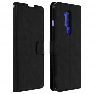Flip Stand Case Brieftasche & Standfunktion für OnePlus 8 Pro - Schwarz