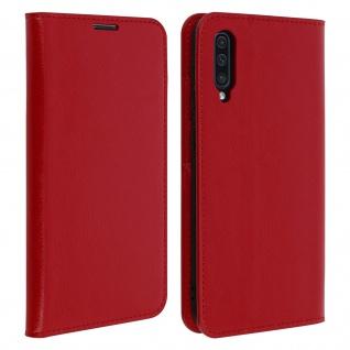 Business Leder Cover, Schutzhülle mit Geldbörse Samsung Galaxy A50 - Rot