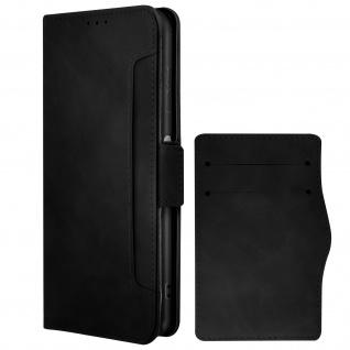 Nokia G20 / G10 Klappetui mit Geldbörse + abnehmbares Kartenfach ? Schwarz