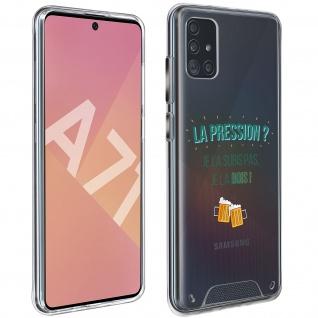 "Handyhülle für Samsung Galaxy A71, Made in France ? "" La pression"" Design"