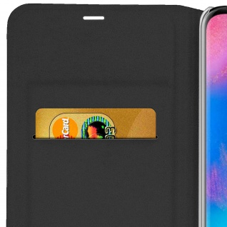 Flip Book Cover, Klappetui aus Kunstleder für Huawei P30 Pro - Schwarz - Vorschau 5