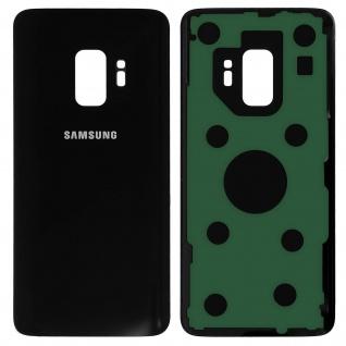 Ersatzteil Akkudeckel, neue Rückseite für Samsung Galaxy S9 - Schwarz
