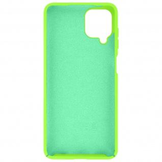 Halbsteife Silikon Handyhülle für Samsung Galaxy A12, Soft Touch ? Grün