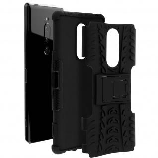 Stoßfeste Schutzhülle + Standfunktion für Sony Xperia 1 ? Schwarz