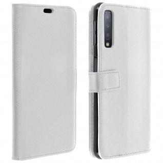 Samsung Galaxy A7 2018 Flip-Cover mit Kartenfächern & Standfunktion - Weiß