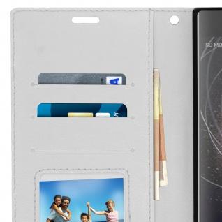 Flip Stand Cover Brieftasche & Standfunktion Sony Xperia XA2 Plus - Weiß - Vorschau 5