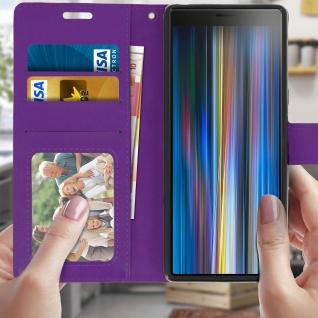 Flip Stand Cover Brieftasche & Standfunktion für Sony Xperia 10 - Violett - Vorschau 3