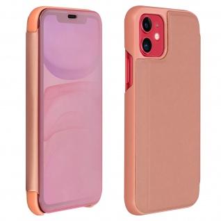 Apple iPhone 11 Flip Cover mit Spiegeleffekt & Standfunktion - Rosegold