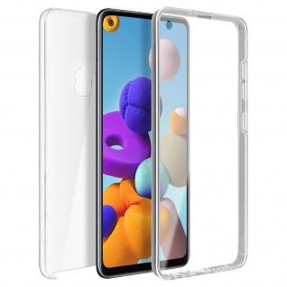 Schutzhülle für Samsung Galaxy A21s, Vorder- + Rückseite ? Transparent