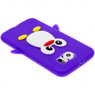 Schutzhülle aus Silikon Pinguin für Samsung Galaxy S6 - Violett