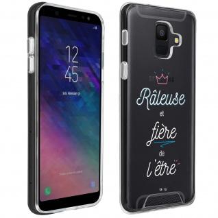 """Handyhülle für Samsung Galaxy A6, Made in France ? """" Râleuse"""" Design"""