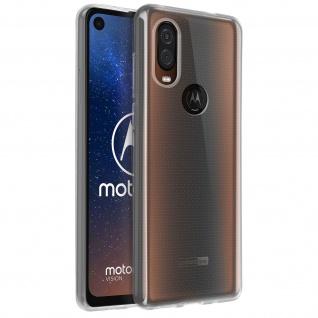 Motorola One Vision Schutzhülle Backcover Silikon Second Skin - Transparent