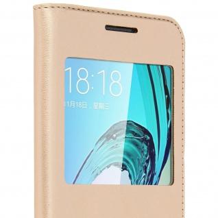 S-View Flip-Schutzhülle für Samsung Galaxy J3 - Gold - Vorschau 4