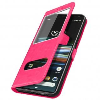 Sony Xperia 1 Flip Cover Doppelfenster & Standfunktion - Rosa - Vorschau 2
