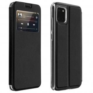 Samsung Galaxy Note 10 Lite Etui mit Sichtfenster & Kartenfach � Schwarz