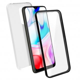 Schutzhülle für Xiaomi Redmi 8 / Redmi 8A, Vorder- + Rückseite ? Silber