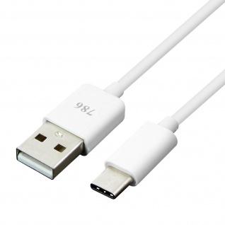 USB auf USB Typ-C Kabel Aufladen & Synchronisieren 1M - Weiß