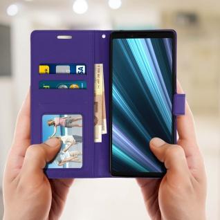 Flip Stand Cover Brieftasche & Standfunktion für Sony Xperia 1 - Violett - Vorschau 3