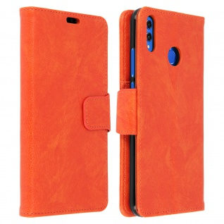 Flip Stand Cover Brieftasche & Standfunktion Huawei Honor 8X - Orange
