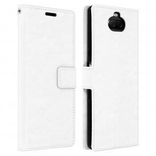 Flip Stand Cover Brieftasche & Standfunktion für Sony Xperia 10 - Weiß