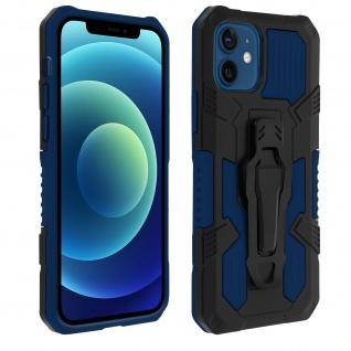 Stoßfeste Handyhülle iPhone 12 Mini, mit Gürtelclip und Ständer ? Dunkelblau