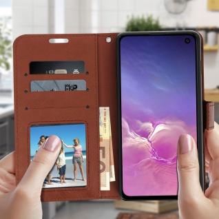 Flip Stand Cover Brieftasche & Standfunktion für Samsung Galaxy S10e - Braun - Vorschau 3