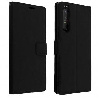 Flip Stand Case Brieftasche & Standfunktion für Sony Xperia 1 II - Schwarz