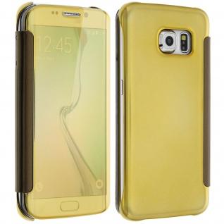 Goldene Clear View Schutzhülle für Samsung Galaxy S6 Edge