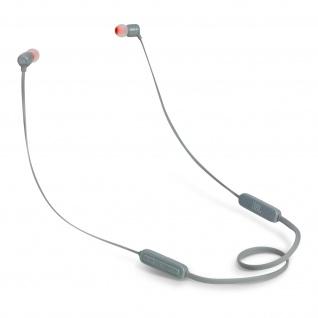 JBL T110BT magnetische in-ear Kopfhörer mit Fernbedienung & Mikrofon - Grau