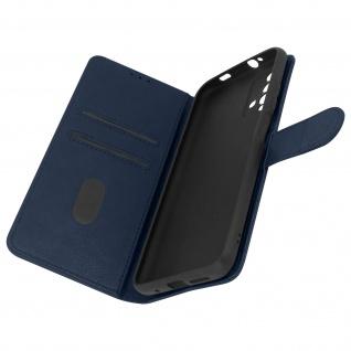 Flip Cover Geldbörse, Etui Kunstleder für Xiaomi Redmi 9T â€? Dunkelblau